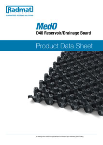 MedO D40 Reservoir drainage board